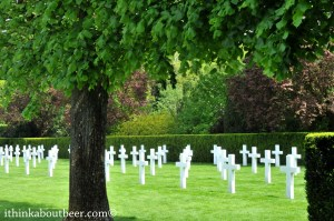 Stop by some non-beer related sites: The WWI American Cemetery outside Ypres