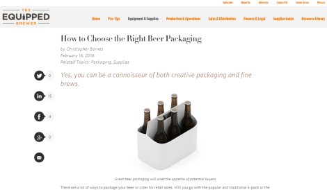 Equipped Brewer - Packaging