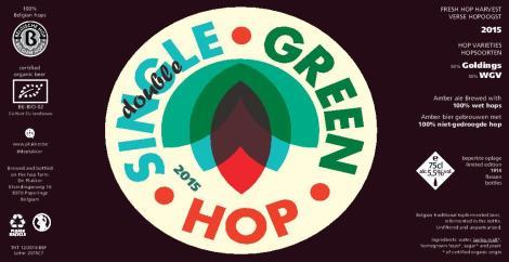 De Plukker Single Double Green Hop 2015