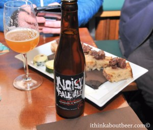 Noisy Pale Ale with snacks provided by Nuetnigenough