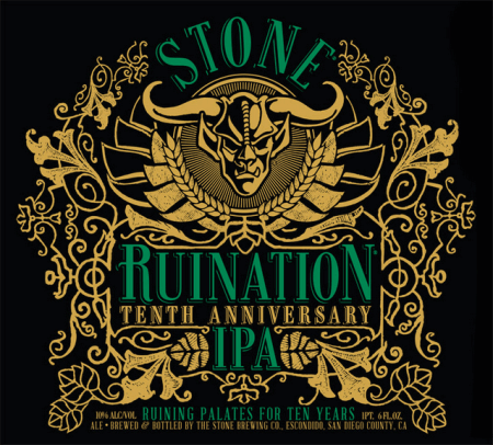 Stone Brewing Ruination IPA Tenth Anniversary