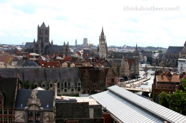 Ghent from the top of Gravensteen