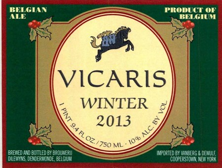 Brouwerij Dilewyns Vicaris Winter 2013