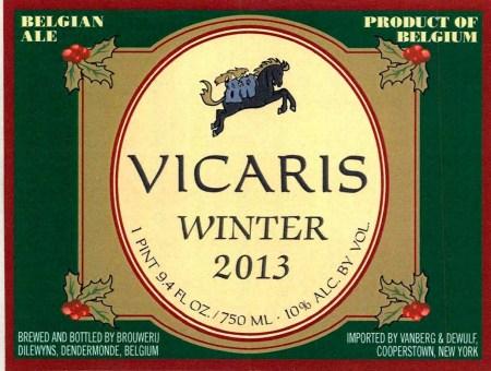 Brouwerij Dilewyns Vicaris Winter 2013