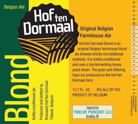 Hof ten Dormaal Blond