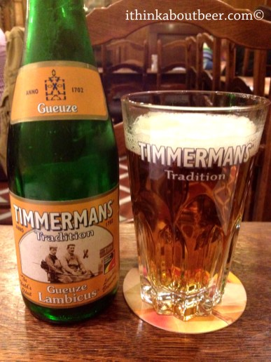 Timmermans Gueuze Lambicus at A La Becasse