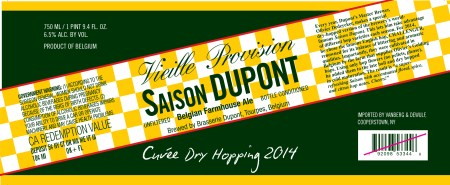 Saison Dupont Cuvée Dry Hopping 2014