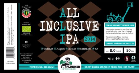 De Plukker All Inclusive IPA 2014