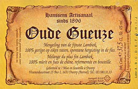 Hanssens Artisanaal Oude Gueuze