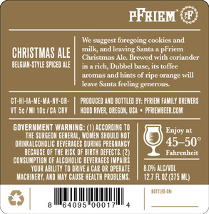 Pfriem Belgian-Style Christmas Ale