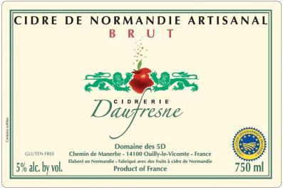 Daufresne Brut Cidre De Normandie Artisanal
