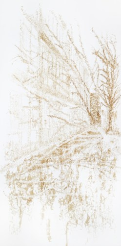 Cheung Hong Sang, Enoch Pseudo Writing – About Symbiosis II, 2009 Coffee on paper, 150 cm x 302 cm Courtesy of the artist © Cheung Hong Sang, Enoch
