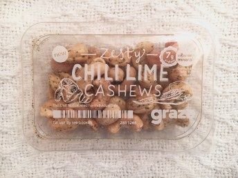 Graze Box Zesty Chili Lime Cashews | I Think It's Ashley