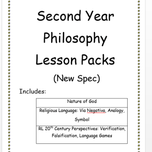 Second Year Philosophy Lesson Packs