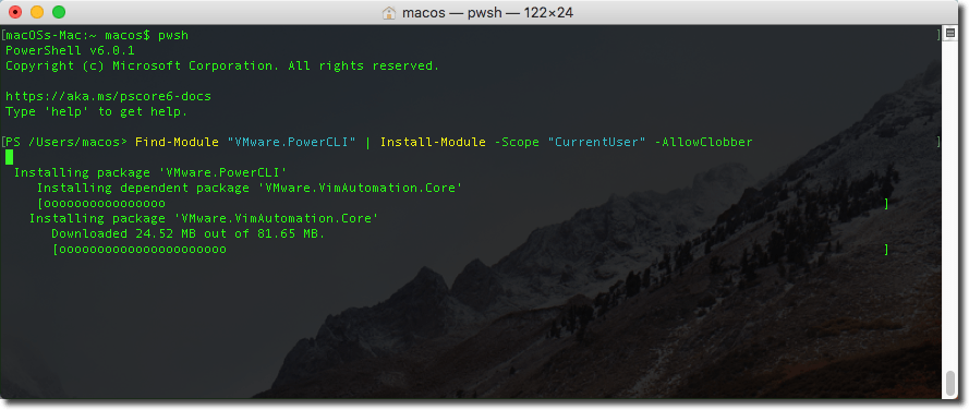 Install PowerShell and VMware PowerCLI on macOS | iThinkVirtual™