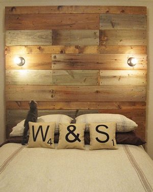 Palette Wood Headboard…SO cool and SO cheap!