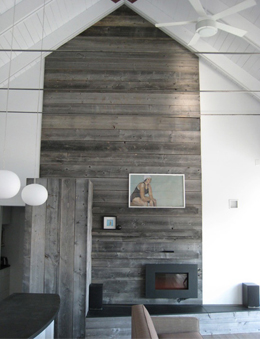 Palette Wood Fireplace Surround