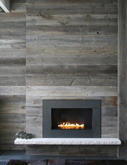 Re-claimed Wood Fireplace Surround
