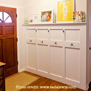 Functional Entryway Makeover with board and batten