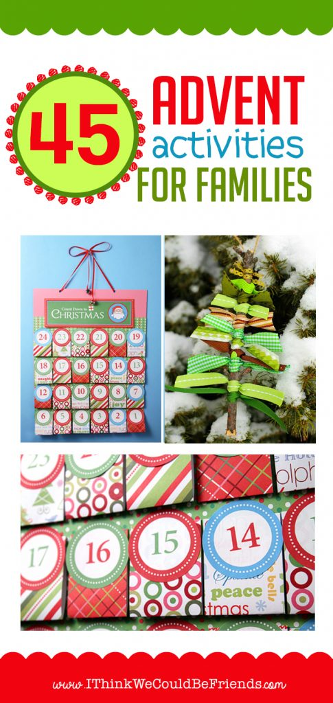 45 Advent Activities for Families: a great way to intentionally celebrate the Christmas season with your family! LOVE all of these ideas!