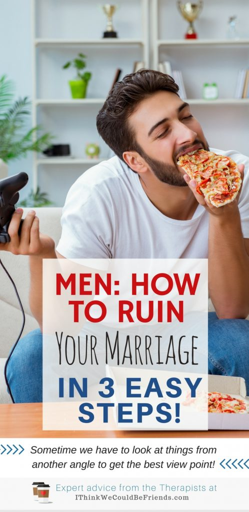 This. Is. SO. GOOD! Amazing how looking at things from a different view point can just make it click! Of course we're not intentionally hurting our marriage, but not doing the things we KNOW we need to do isn't helping anyone either! #awesome #marriage #advice #tips #husband #wife # love