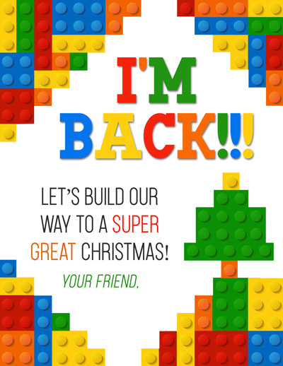 Free printable Elf on the Shelf Arrival Letter with Lego theme