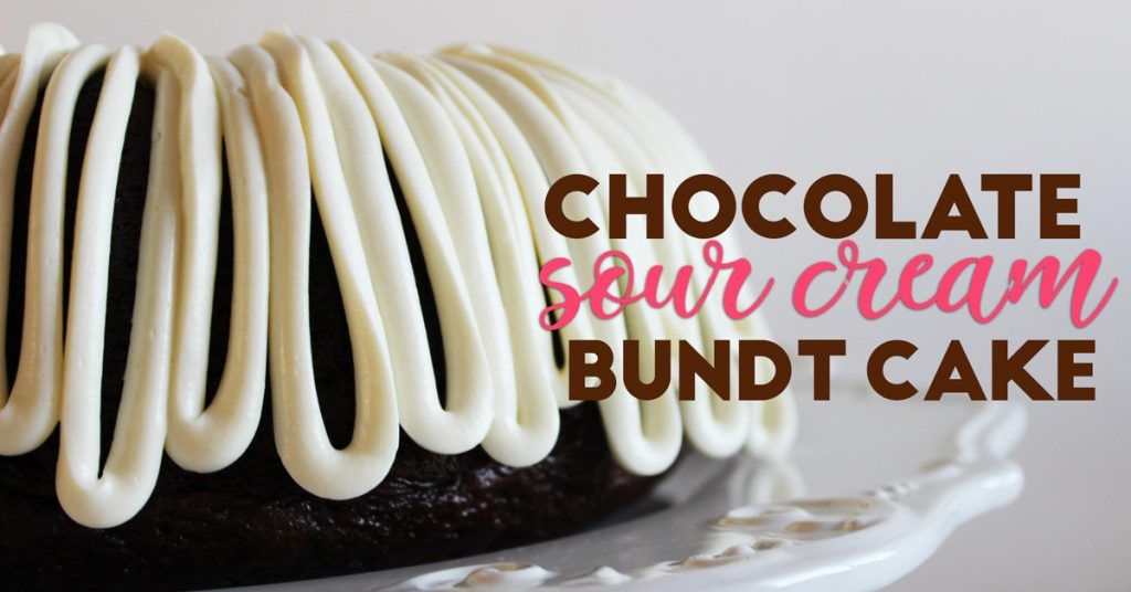 Incredibly EASY but AWESOME Chocolate Sour Cream Bundt Cake Recipe: Your guests will think you bought it from a fancy bakery- its THAT GOOD!!!!