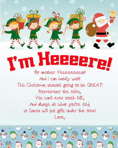 New this year! From the complete index of FREE printable Elf on the Shelf Arrival Letters, updated daily, with NO dead links! Happy Elf Arrival! #elfontheshelf #arrival #ideas #letter #free #printable #quick #easy #funny #toddler