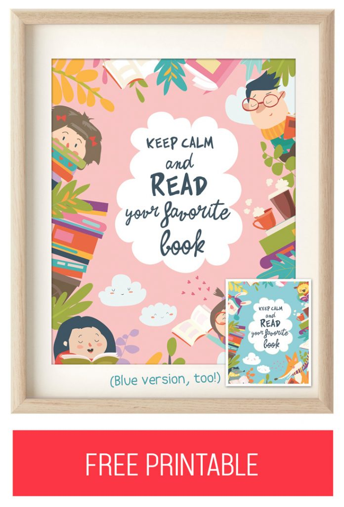 "FREE Printable Wall Art: ""Keep Calm and Read Your Favorite Book"""