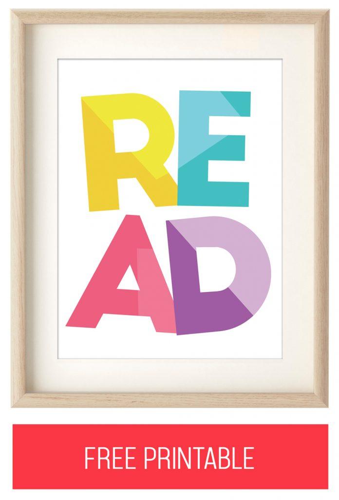 "Free ""READ"" Printable Artwork"
