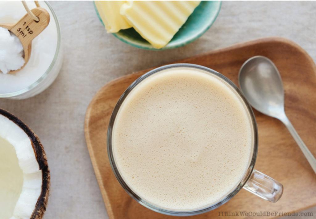 flat lay of keto coffee