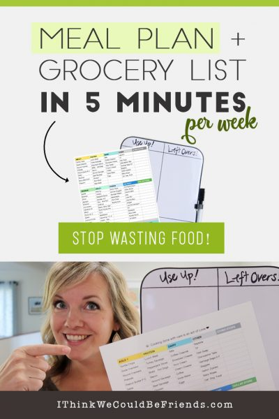 A SIMPLE Meal Planning System that helps you 1) Stay on BUDGET 2) East at home MORE 3) and waste LESS food! Fill in the worksheet once with an inventory of the most common foods your family consumes & a list of your common meals & just print it out week after week! To use: highlight your meals for the week, take a quick look in your cupboards & highlight the foods you need & you're done meal planning in 5 minutes! #mealplanning #system #quick #easy #onabudget #free #printable #mealprep
