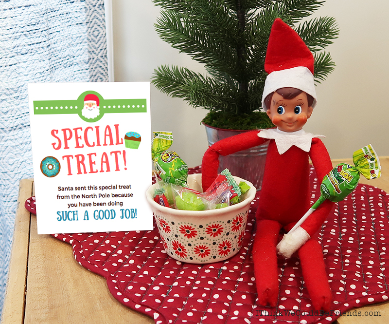 New SUPER EASY Elf on the Shelf tradition: If Elf on the Shelf has become a pain and is no longer fun for you, try out this fun new tradition! Your Elf arrives with a bag of bows and a letter instructing your kids to put a bow on one old toy per night for Elf to take back to the North Pole. Our kids LOVED this and it made my life SO easy!! Click through to read all of the details! #elfontheshelf #arrival #ideas #easy #funny #free #printable #letter #new #tradition