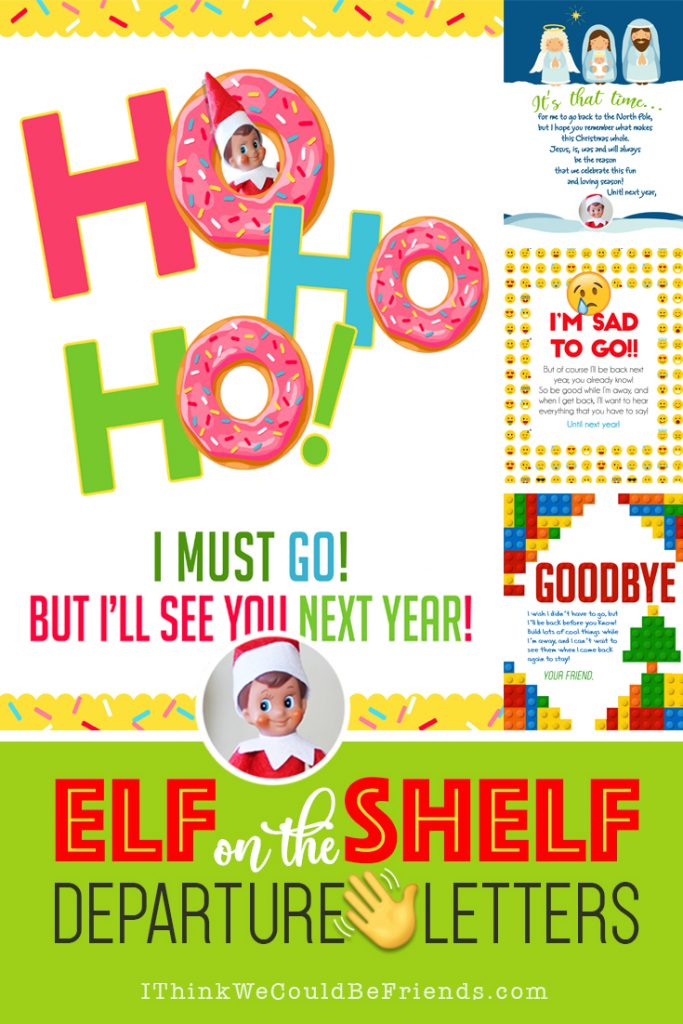 Eventually your Elf on the Shelf must say goodbye, send him off in style with one of these Departure Letters! Many new designs for this year and over 20 different options! Enjoy! #elfontheshelf #departure #letter #ideas #goodbye #easy #quick #funny