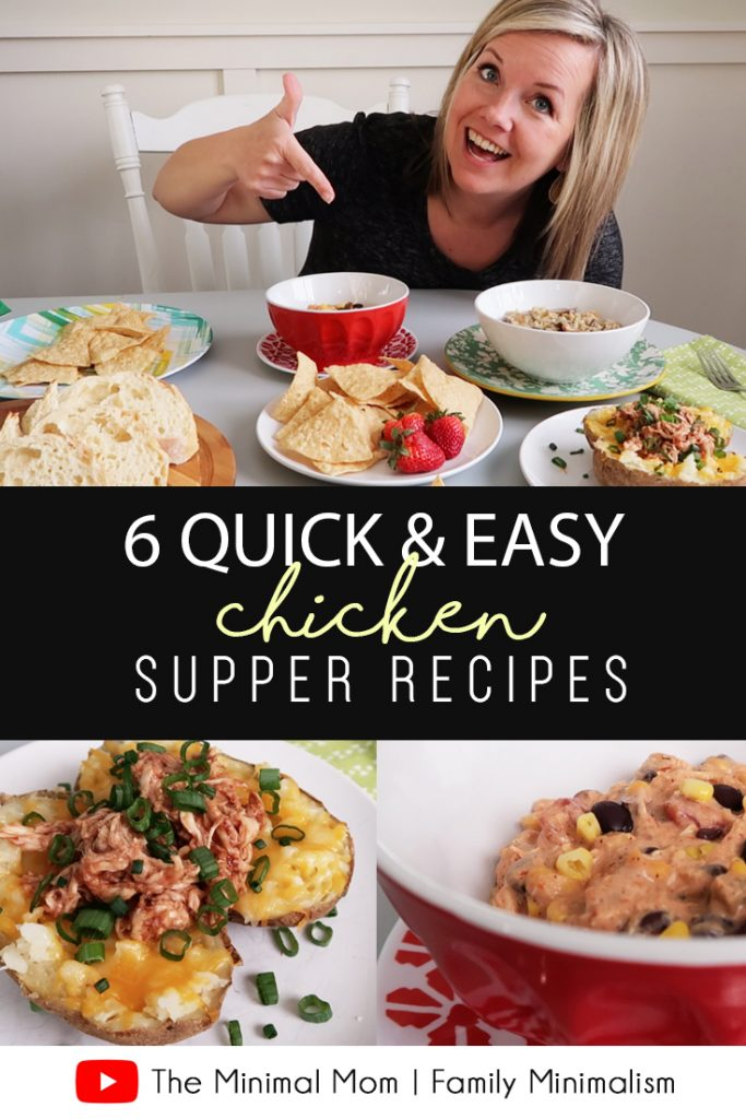You don't have to dread dinnertime! Just find some quick & easy recipes (like these!) that are FAST to prepare and don't require a lot of brain power! Oh, and they taste good, too! #chicken #quickrecipes #dinner #supper #easy #quick #fast