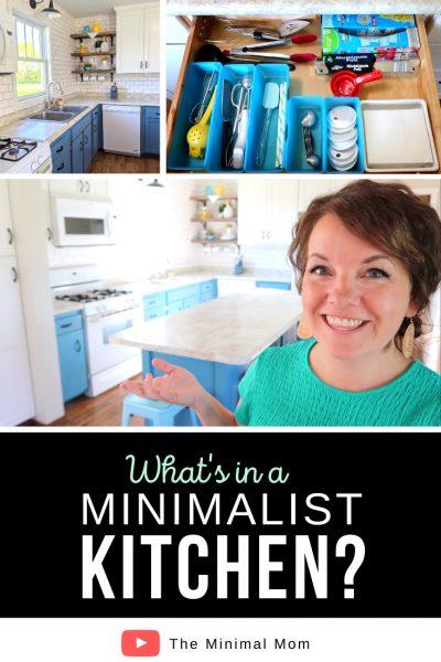 what's in a minimalist kitchen