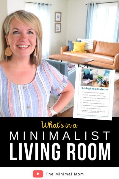 what's in a minimalist living room, free printable