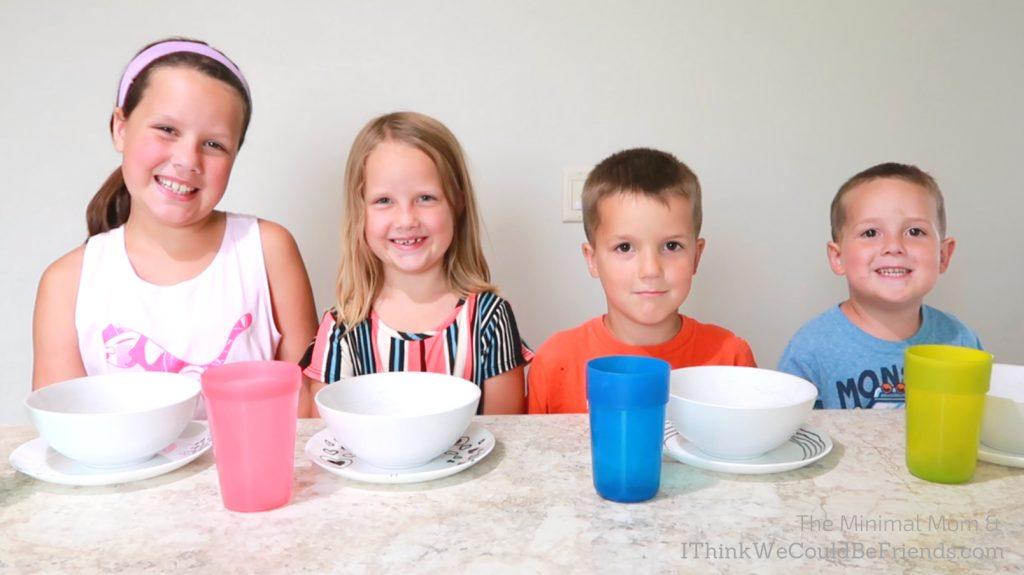 minimalist dishes with kids