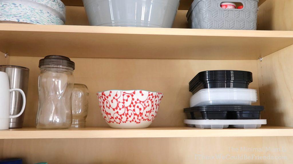 minimalist kitchen, storage containers
