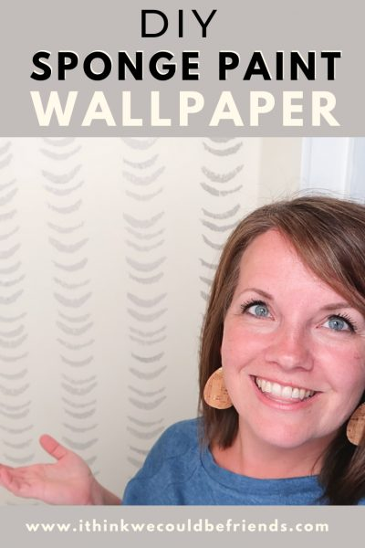 DIY sponge paint wallpaper
