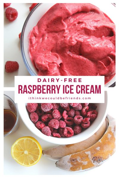 raspberry ice cream pinterest graphic