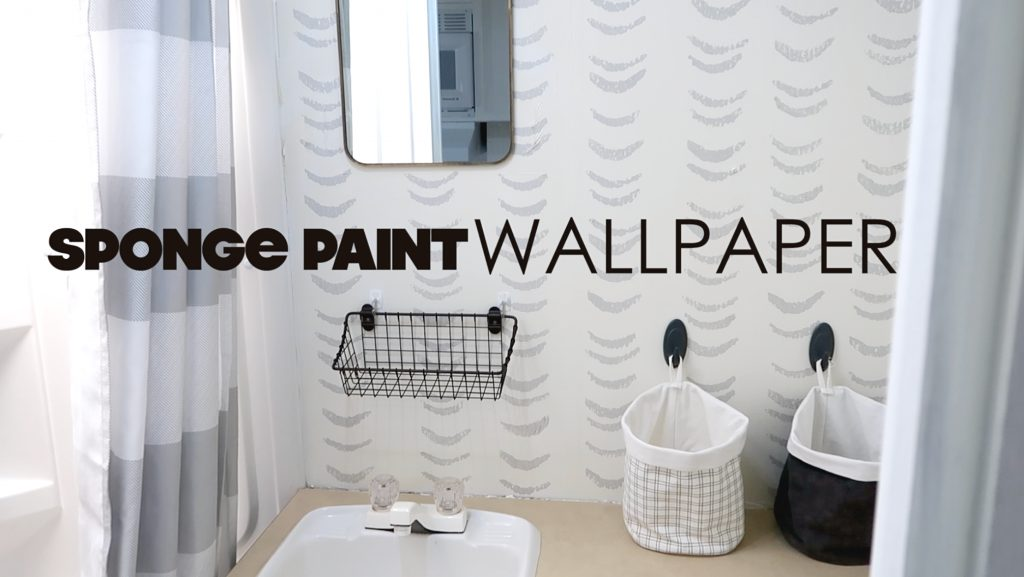 sponge paint wallpaper