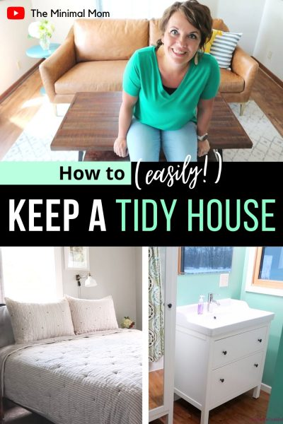Here is the BEST tip for a tidy house! It doesn't have to be hard, but to keep a tidy home, does require a small brain shift! Here is my favorite tidy house and home tip! #tidyhousetips #tidyingtips #tidybedroom #tidyhome #howtotidy #tidytips #tidyup #tidyingup