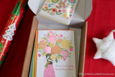 greeting cards in box