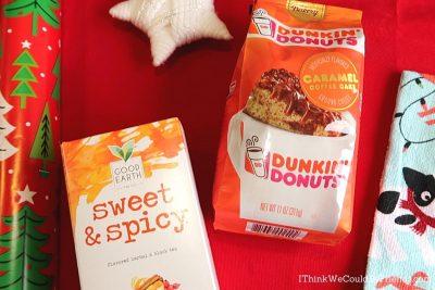 sweet & spicy tea, dunkin' donuts coffee