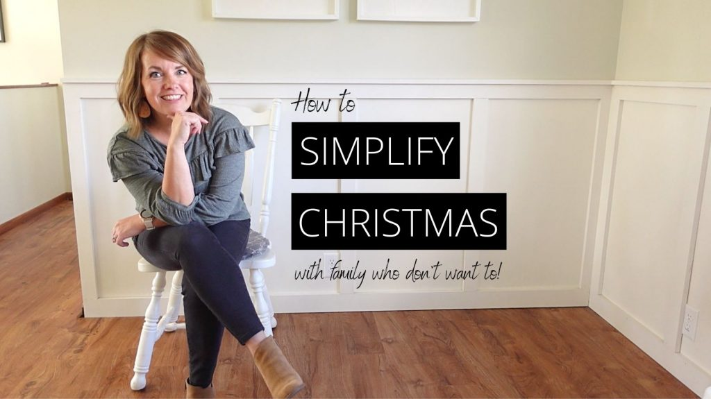 feature image, Dawn sitting in a chair, simplify christmas