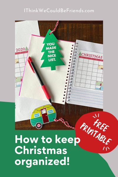 pin, how to keep Christmas organized