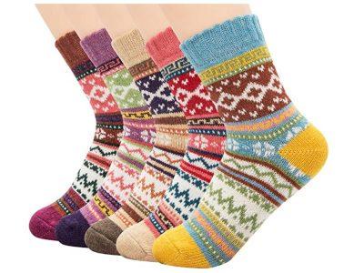 colorful wool socks