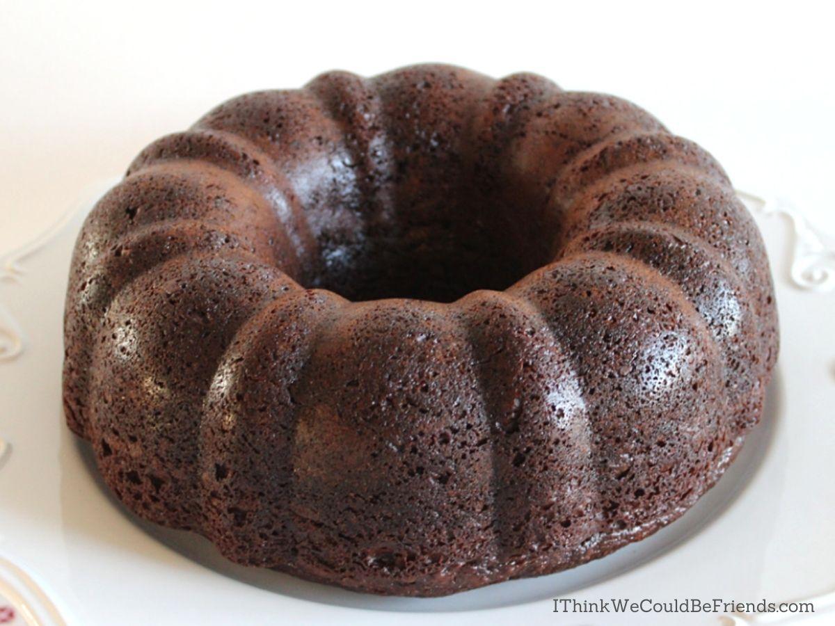 chocolate Bundt Cake, plain
