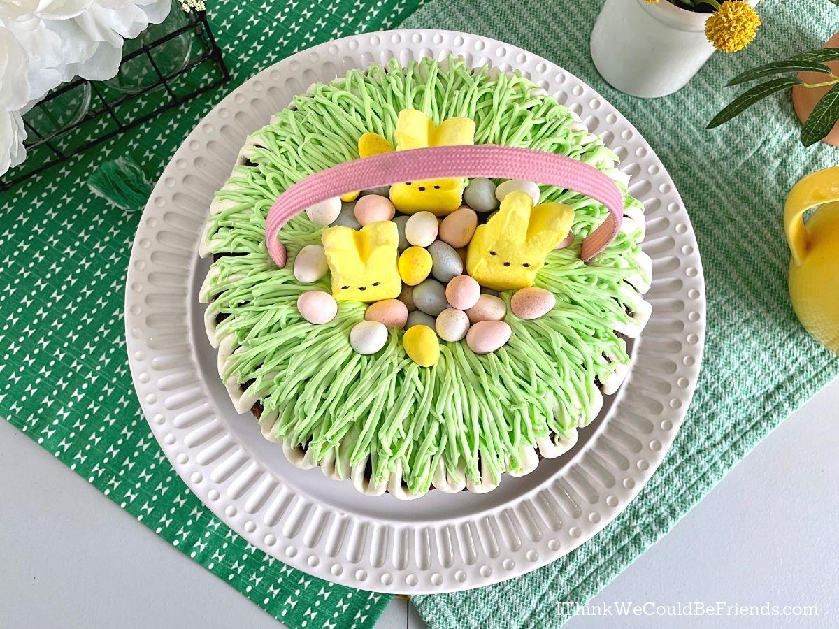 easter basket Bundt Cake, top view